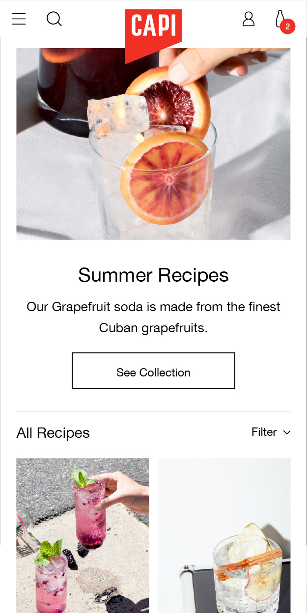 Capi Mobile Summer Recipes